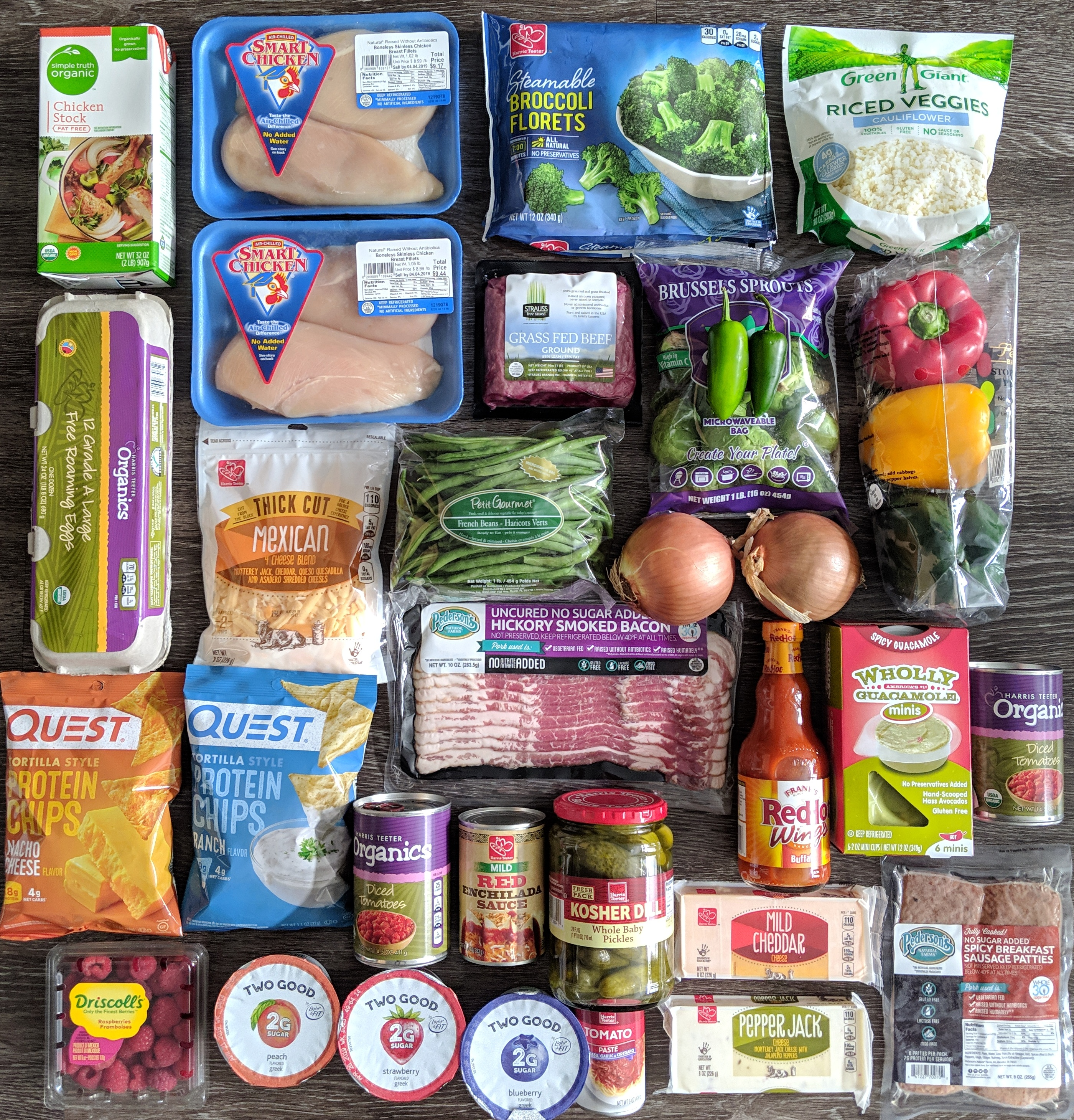 Harris Teeter Grocery Haul & Dinner Menu – getfitlaura
